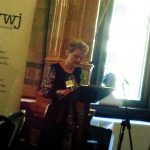 Competition Winner Margaret Mounsdon reading Weeping Willow